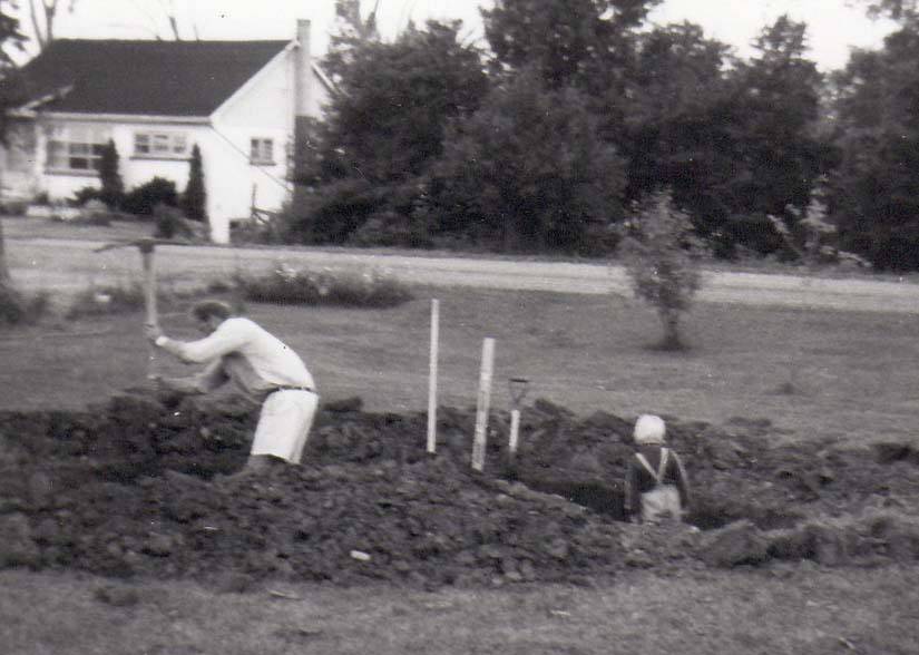 My first job, helping my Dad build a pond - 1971