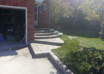 Circular front steps