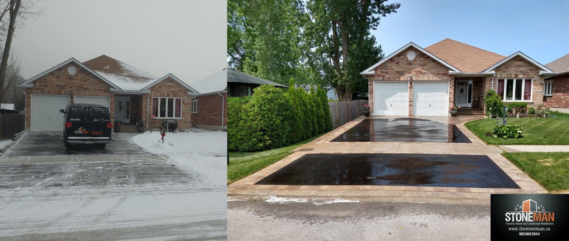 Driveway banding and front entrance